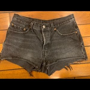 Levi High Waisted 501 Jean shorts